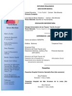 Curriculum de Yurelis Terapeuta