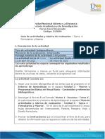 Guía de Actividades y Rubrica de Evaluación - Tarea 4 - Formularios y Macros