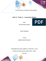 Learning Styles  first and second language avance 1