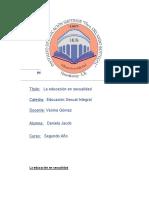 La Educacion en Sexualidad