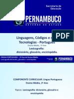 Lexicografia Dicionário, Glossário, Enciclopédia. (1)