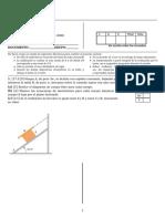 Segundo Examen Fisica Mecanica2019 2B