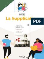 Analyse - La Supplication