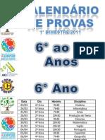 calendario de provas 1° bimestre 2011_ 6° ao 9° anos