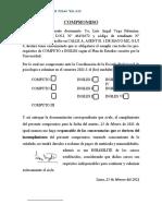 carta de COMPROMISO DE INGLES