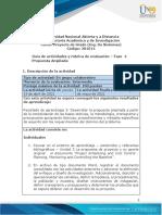 Guía de actividades y Rúbrica de evaluación - Unidad 3 - Fase 4 - Propuesta Ampliada