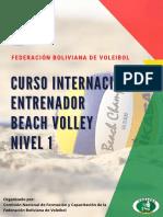 Curso Internacional Entrenador Beach Volley Nivel 1-1