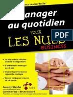 Manager Au Quotidien Pour Les Nuls - Jérémy Stubbs & Caroline Facy, Bruno Luirard 2015