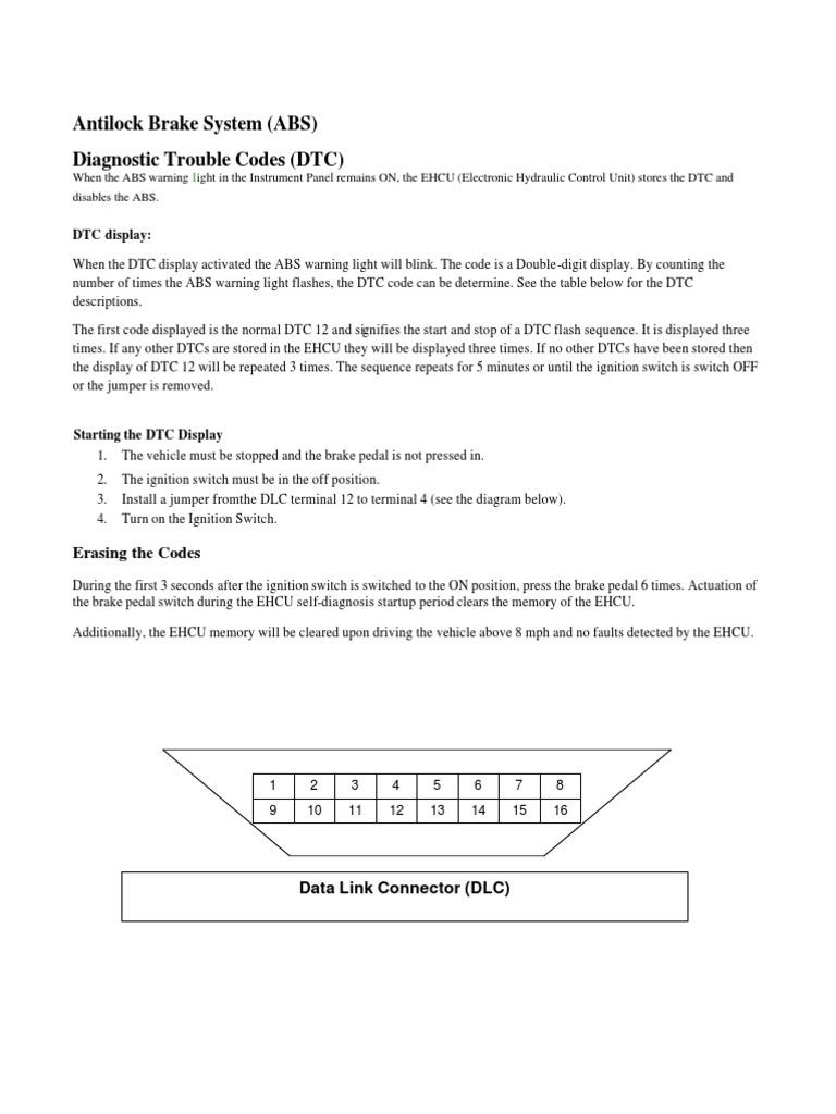 Abs Dtc Anti Lock Braking System Electrical Engineering Scania Wiring Diagram