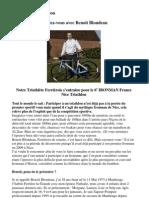 Entretien Avec Benoit Blondeau (Csc. Ferrierois Et Houdain-Lez-Bavay Triathlon