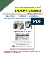 Notiziario ANPI Chioggia numero 68