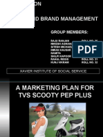 A marketing Plan For TVS Scooty Pep Plus