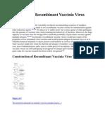 Recombinant Vaccinia Virus Vaccines