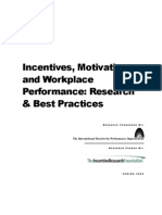research and best practices employee motivatiun report