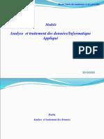 GMP Analyse  et traitement des données-Informatique Appliqué  Pr sqalli cours complet