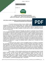 Nota Pública CNDH letalidade ação policial Jacarezinho RJ