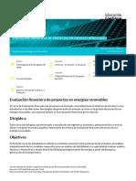 Evaluación financiera de proyectos en energías renovables