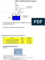 Les differents types des capteurs ch4