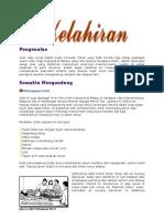 Adat Istiadat kelahiran-kematian Melayu Riau