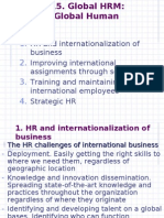 Lecture #15. Global HRM