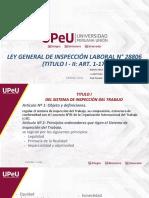 Expo 4. Ley General de inspcción Laboral N°28806(Titulo I -II)