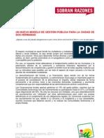 Programa de Gobierno 2011 - Dos Hermanas - Modelo de Ciudad