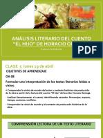"""ANÁLISIS CUENTO """"EL HIJO"""" DE HORACIO QUIROGA"""