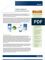 Exchange Hosted Services - Continuity - Datenblatt 2008