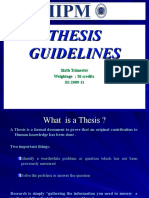 Thesis Guidelines SS 2009-11