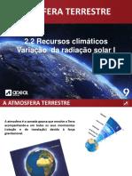 A Radiação Solar I - Atmosfera 20-21