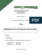 Realisation Dun Site Web de Vente en Ligne