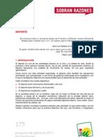 Programa de Gobierno 2011 - Dos Hermanas - Deporte