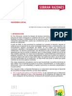 Programa de Gobierno 2011 - Dos Hermanas - Hacienda Local