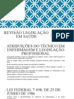 REVISÃO LEGISLAÇÃO EM SAÚDE