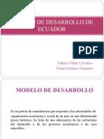 MODELO DE DESARROLO DE ECUADOR