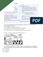 Prova de Lingua Portuguesa 9º Ano Com Gabarito 3