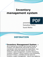 INVENTORY MGMT SYSTEM