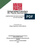 1. LABORATORIO DE FISICA ELECTROMAGNETICA LEY DE COULOM