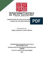 2. LABORATORIO DE FISICA ELECTROMAGNETICA CODIGO DE COLORES DE RESISTENCIAS
