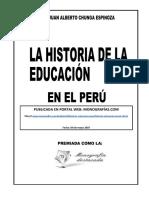 la historia de la educacion en el peru