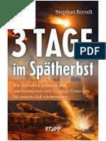 3 Tage im Spätherbst (German Edition)