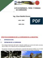 La Corrosión, Su Economía, Tipos y Formas de Corrosión