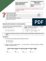 GUÍA 4. ARITMÉTICA 6.2  Fracciones en la recta numérica