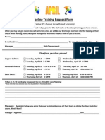 Pipeline Training Request Form April 2011
