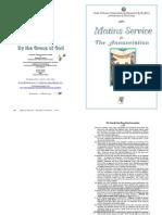 25 Mar 2011 - A n n u n c i a t i o n MATINS SERVICE