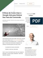 8 Dicas de Como Usar o Google Ads para Dobrar Sua Taxa de Conversão