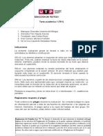 COMPRENSIÓN Y REDACCIÓN DE TEXTOS I Ciclo 2020-AGOSTO Tarea académica 1