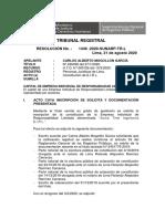 RESOLUCION N° 1446 - 2020 SUNARP - TR - L CAPITAL DE LA EIRL NO PUEDE ESTAR REPRESENTADO EN ACCIONES