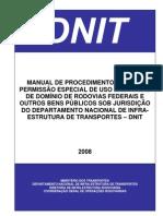 manual permissão uso faixa de domínio