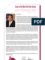 2011 Historic Women of Distinction Senate Members Personalized Letters